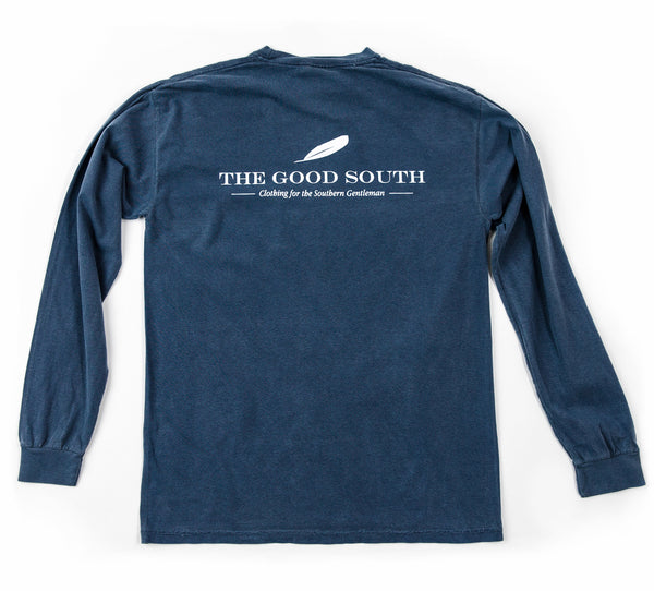 The Good South Long Sleeve T-Shirt: Denim