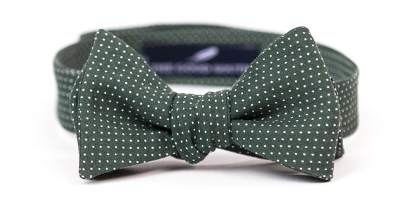 Hunter Green Mini Dot Bow Tie