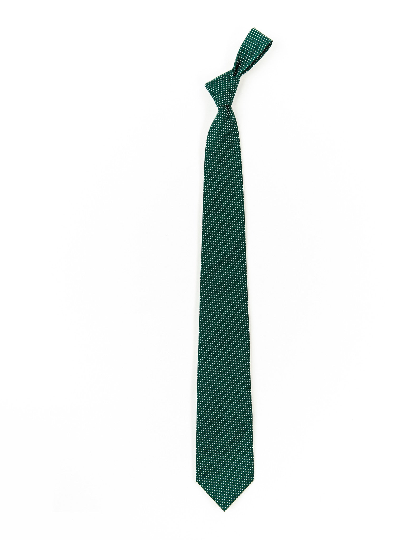 Hunter Green Mini Dot Necktie