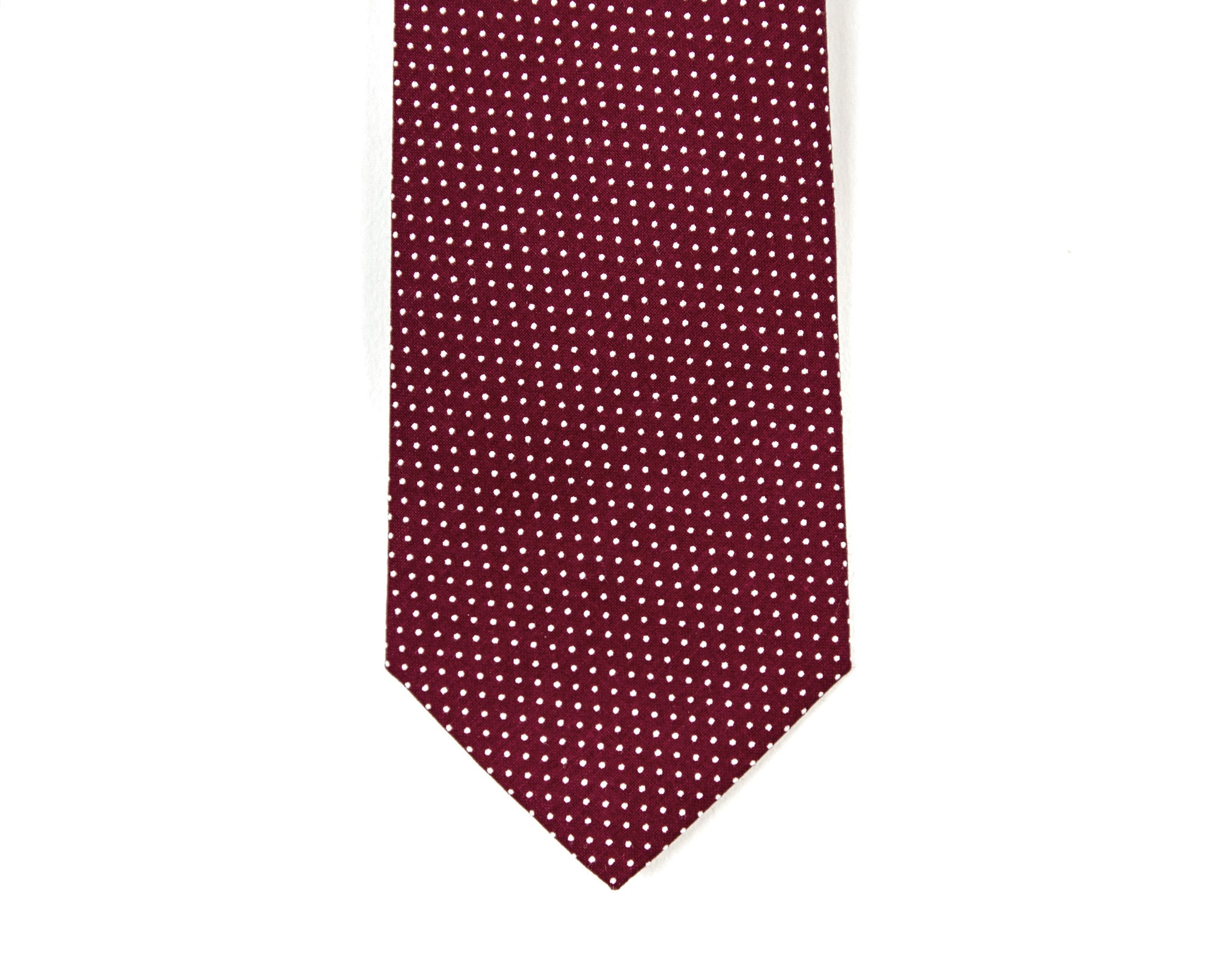 Maroon Mini Dot Necktie