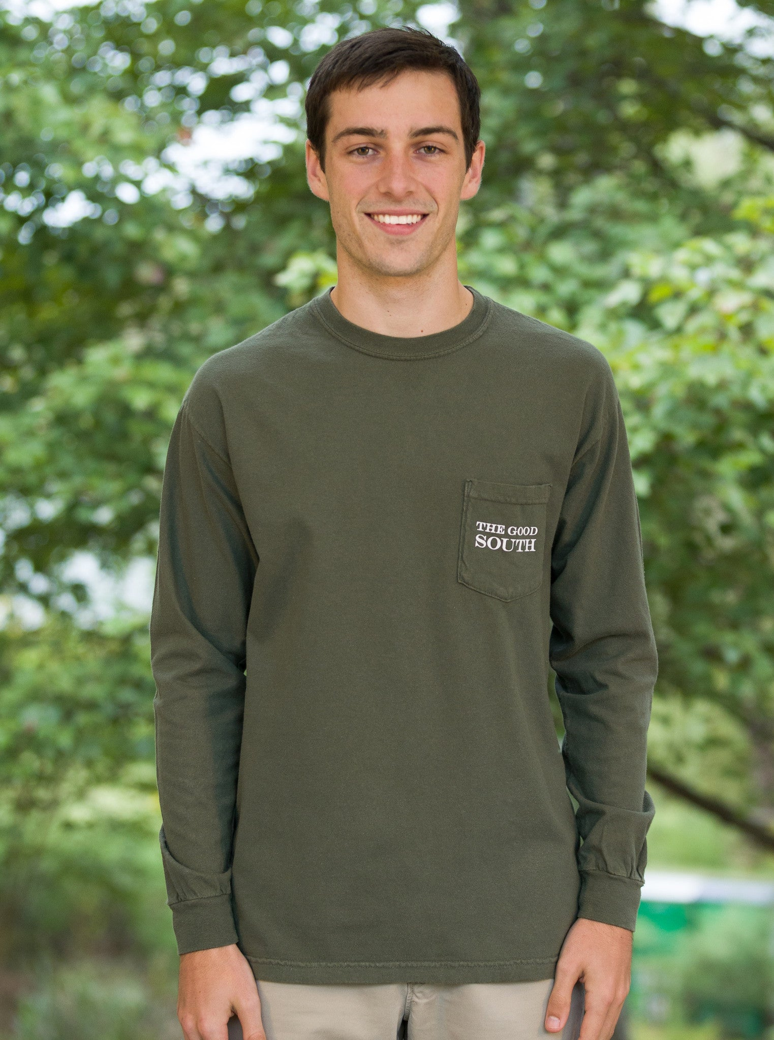 The Good South Long Sleeve T-Shirt: Sage