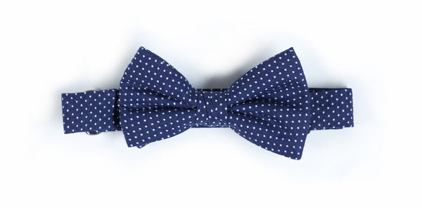 Kids Navy Mini Dot Bow Tie