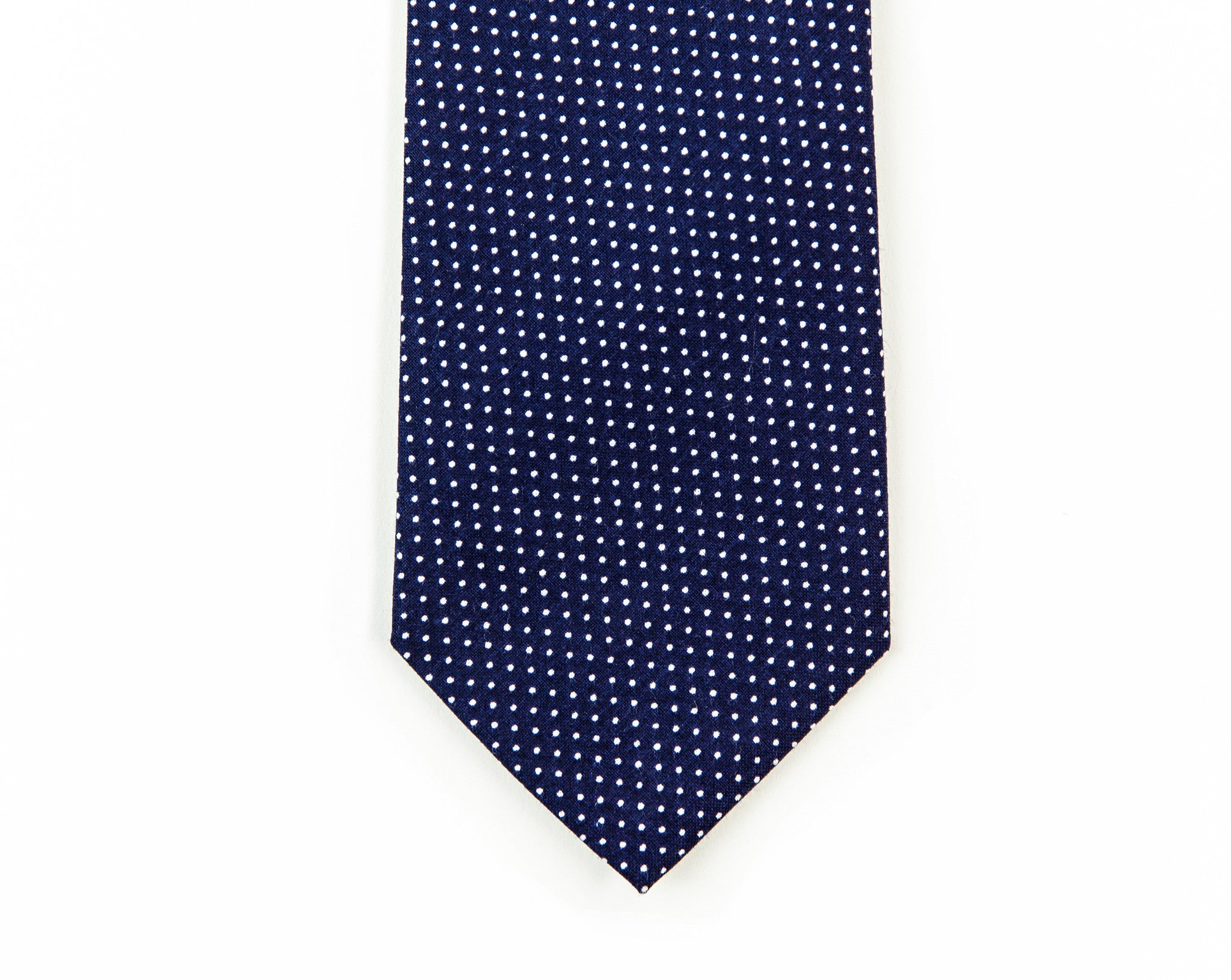 Navy Mini Dot Necktie