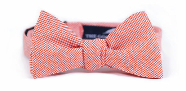Orange Microcheck Bow Tie