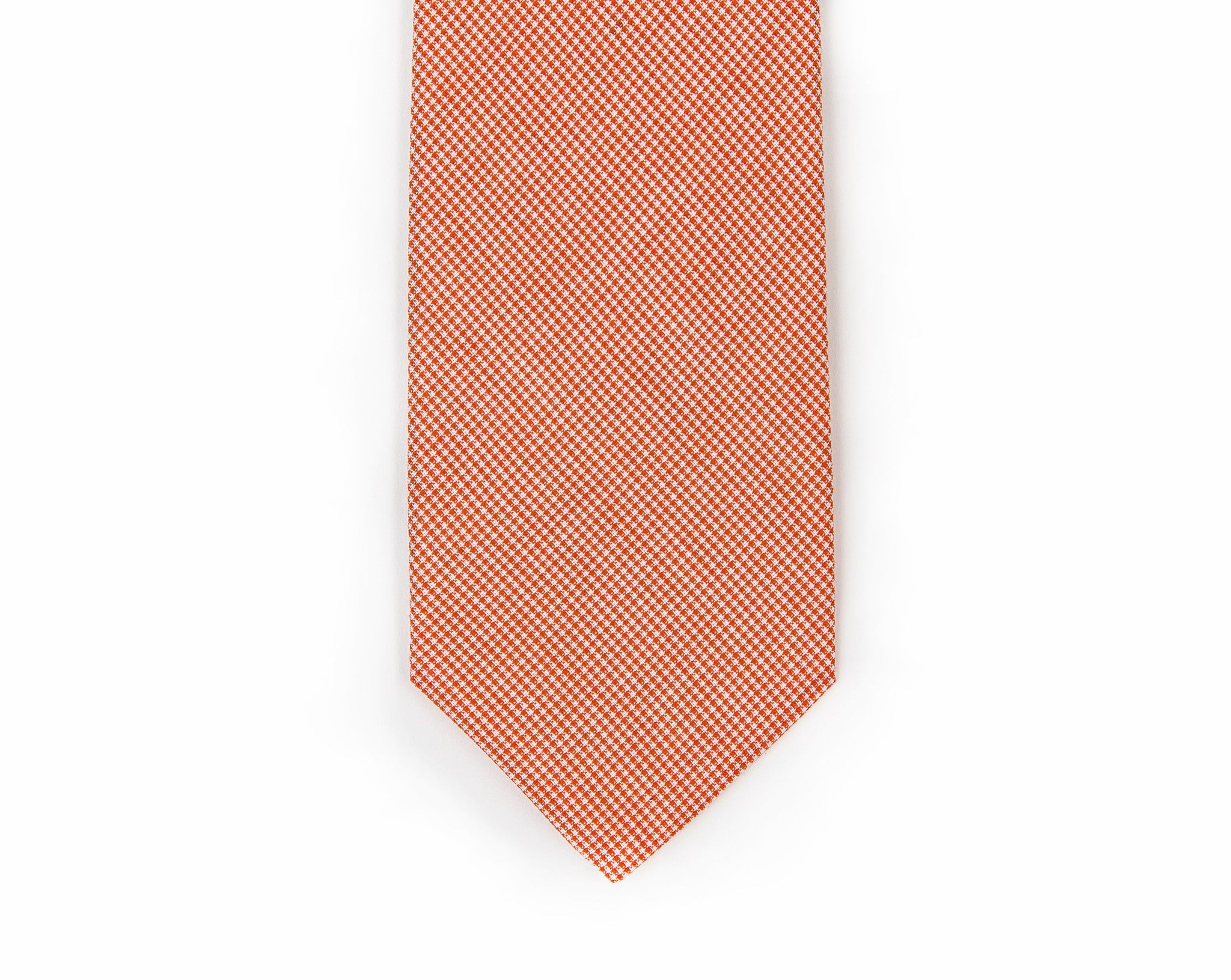 Orange Microcheck Necktie