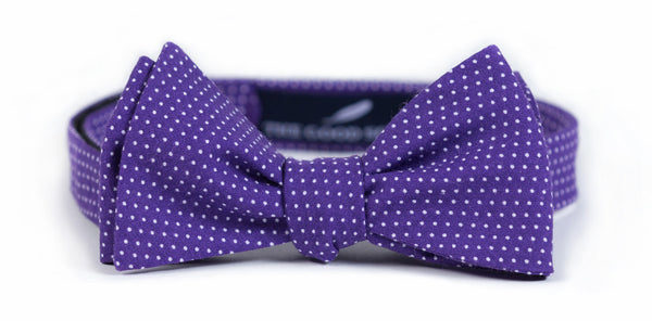 Purple Mini Dot Bow Tie