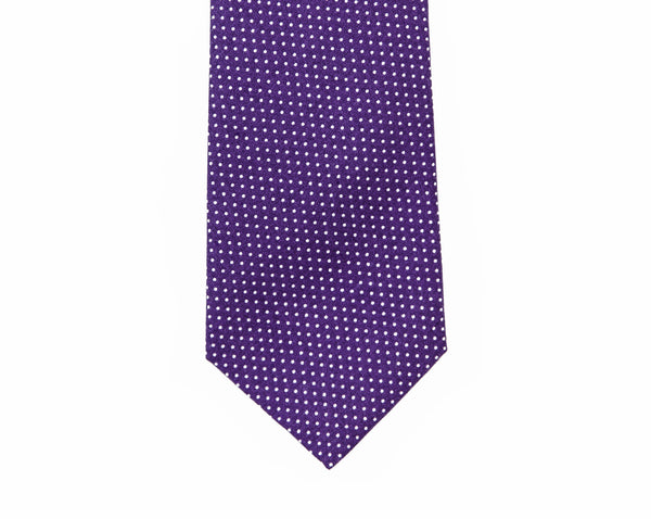 Purple Mini Dot Necktie
