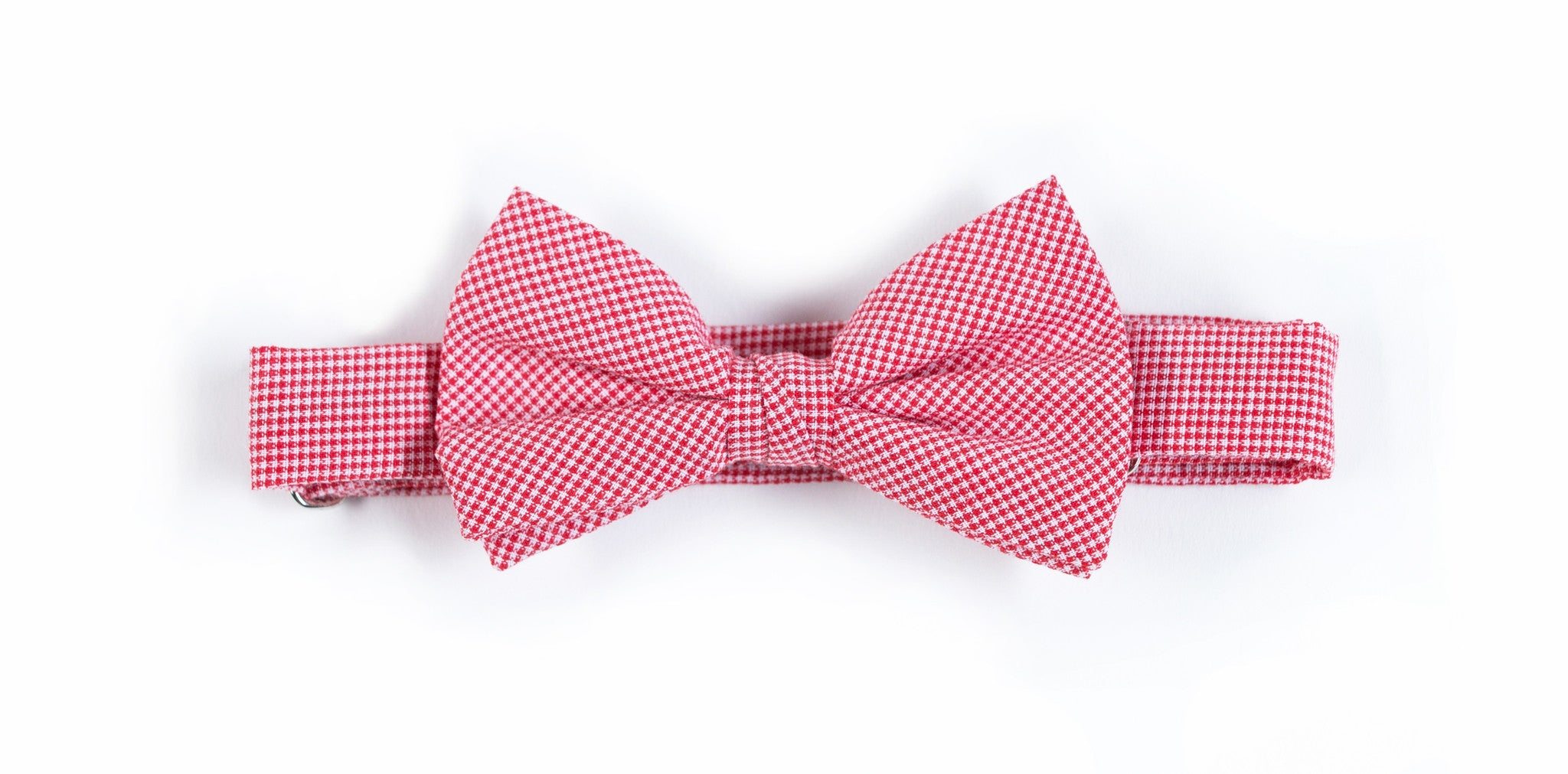 Kids Red Microcheck Bow Tie