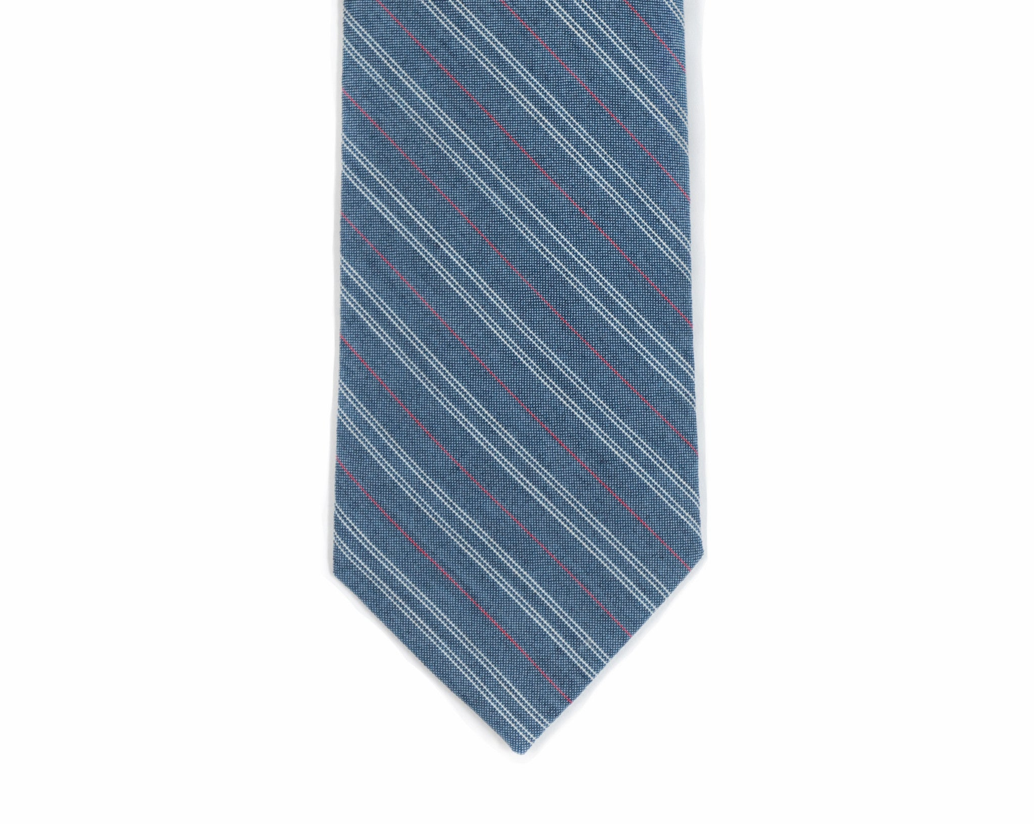 Red + White + Blue Pinstripe Necktie