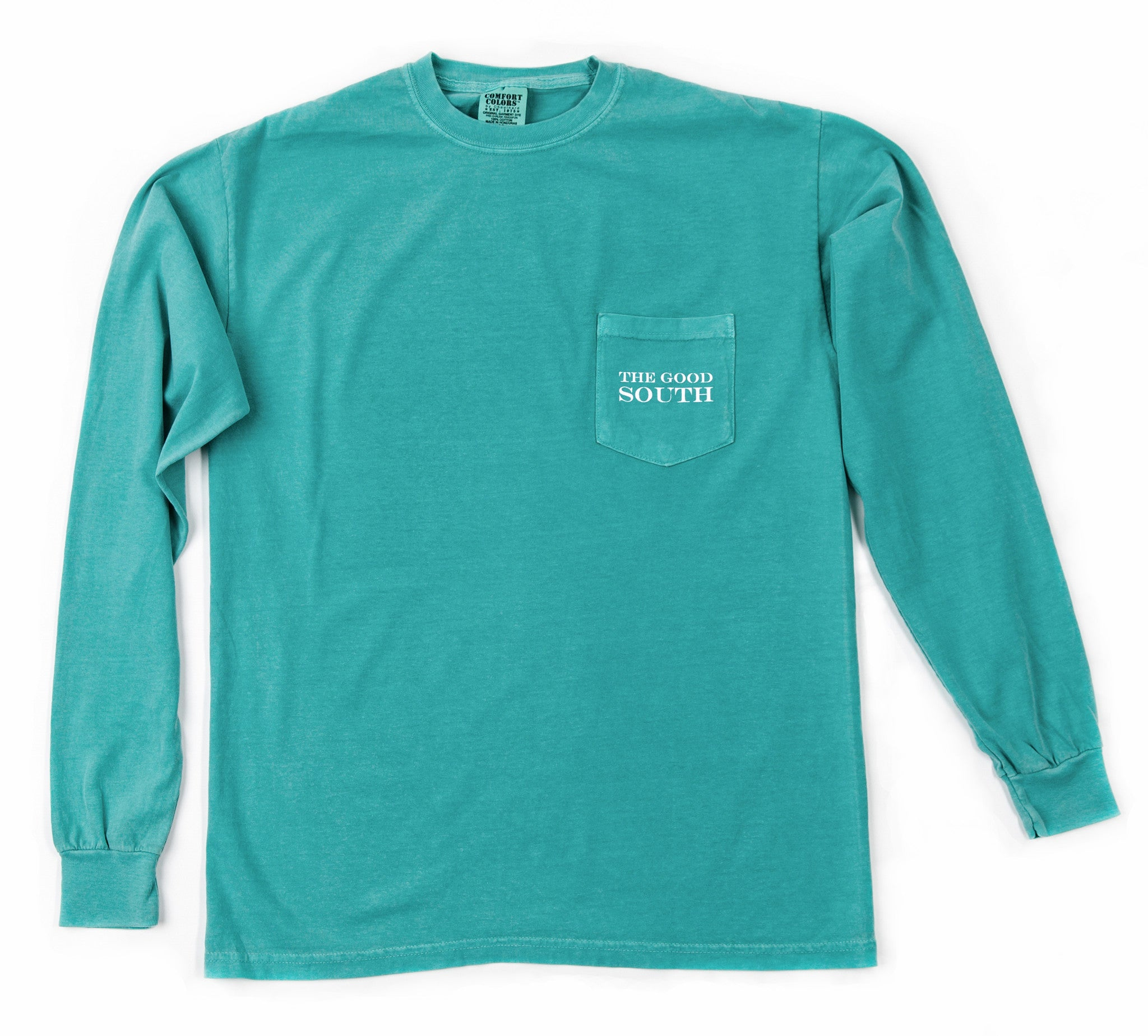 The Good South Long Sleeve T-Shirt: Seafoam