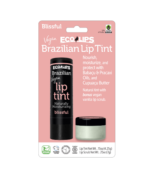 Vegan Brazilian Lip Tint Blissful +  Vegan Vanilla Sugar Lip Scrub