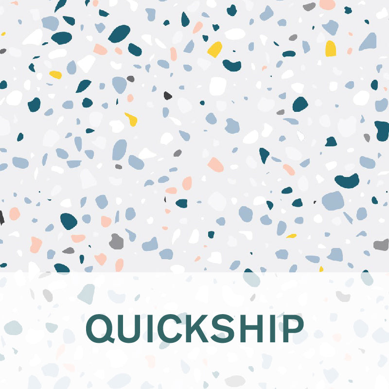 Terrazzo background with QUICKSHIP title on it