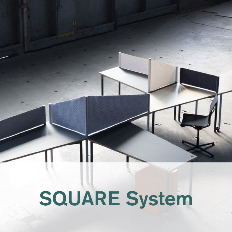 Hartwork SQUARE System desks and partitions