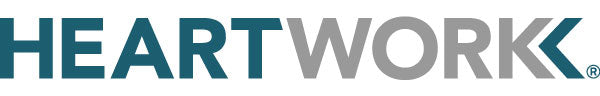 Heartwork logo in teal and grey
