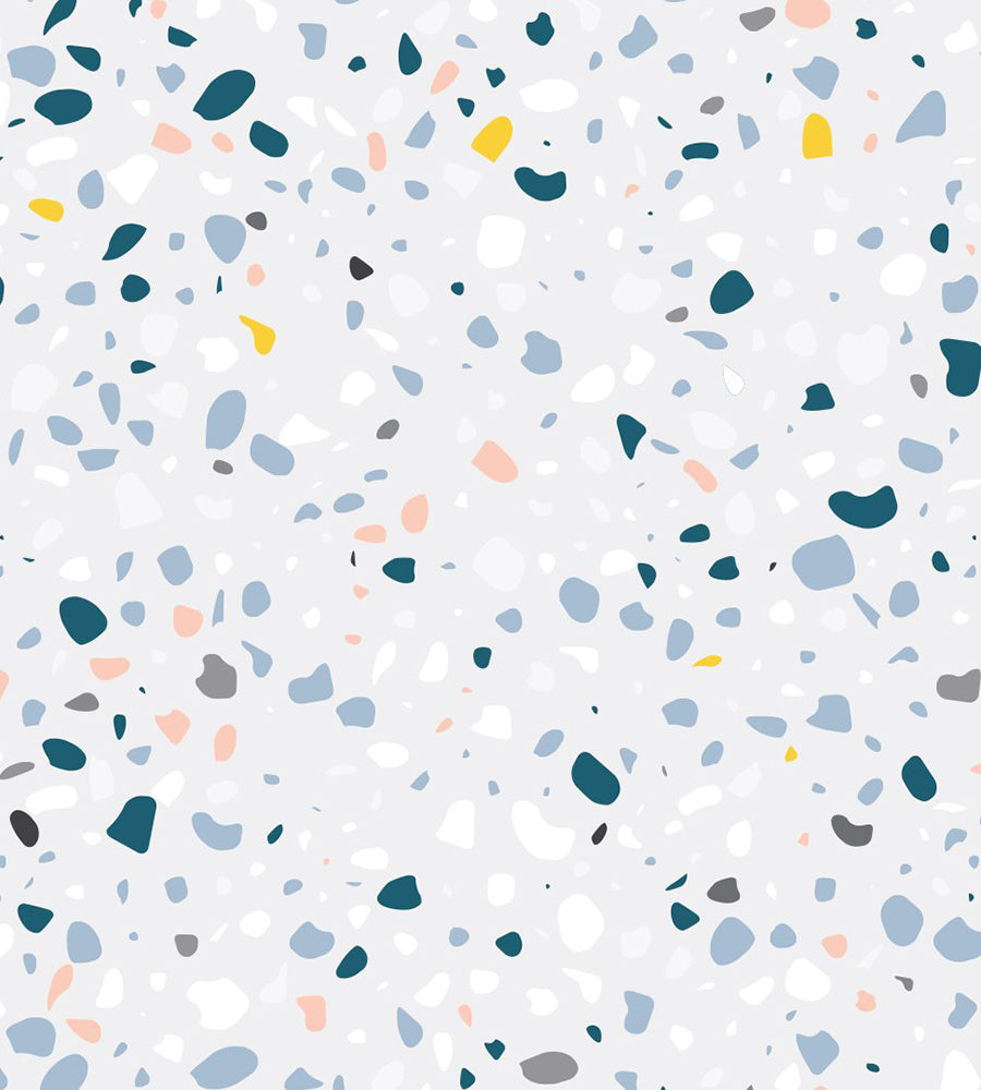 Terrazzo background in grey