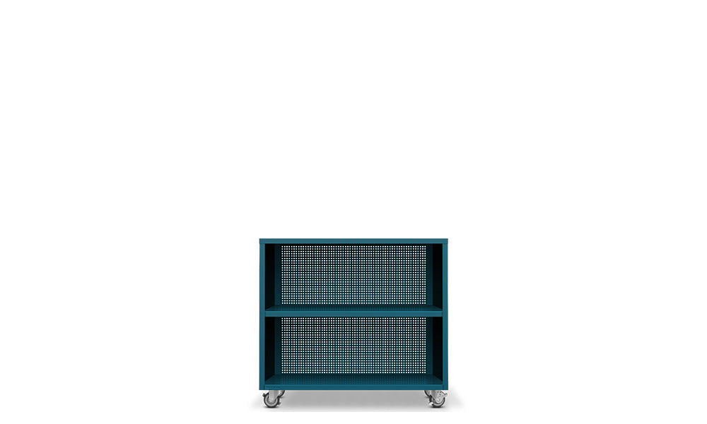 Active Duty Bookcase 2H Perforated Back - Heartwork Inc