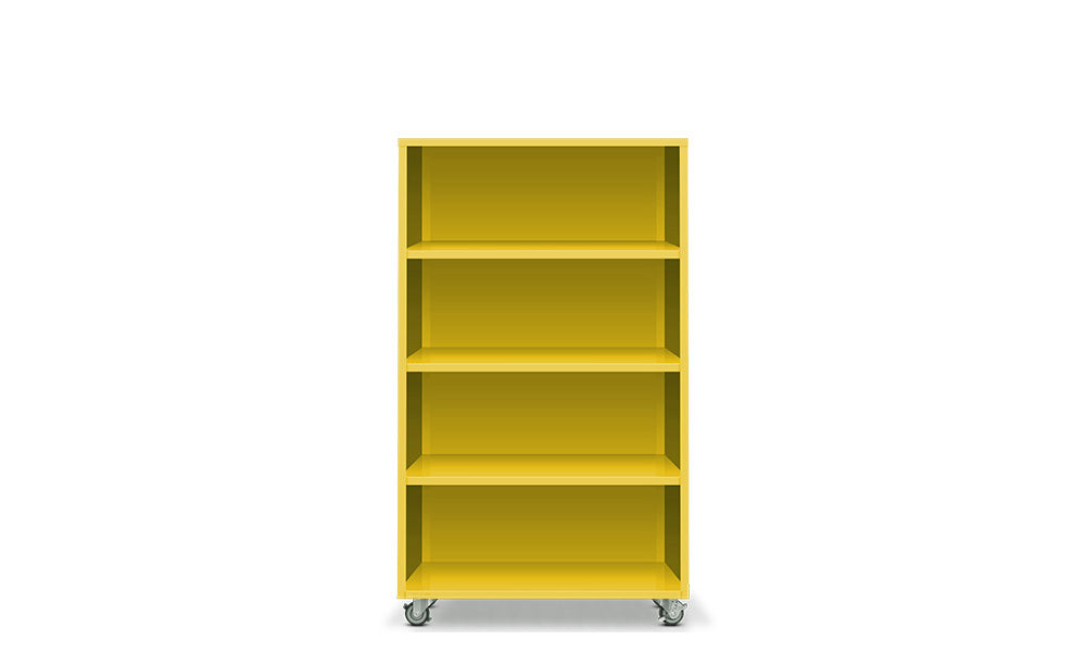 Active Duty Bookcase 4H Closed Back - Heartwork Inc