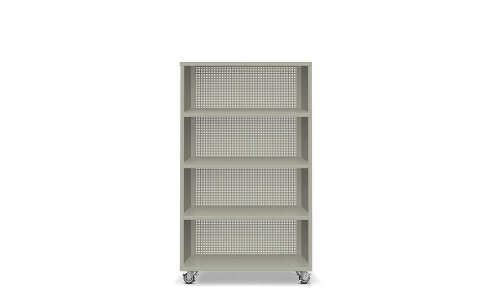 Active Duty Bookcase 4H Perforated Back - Heartwork Inc