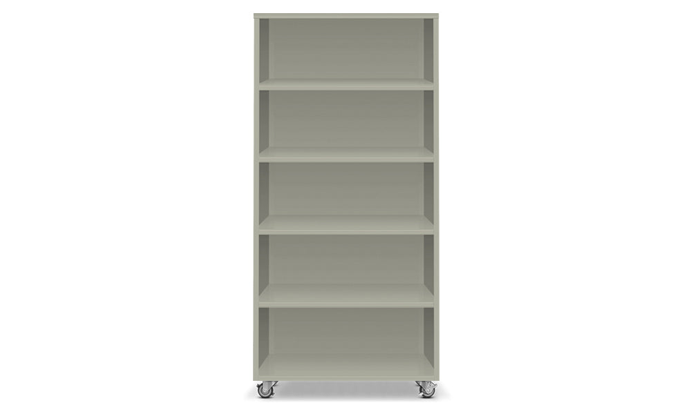 Active Duty Bookcase 5H Closed Back - Heartwork Inc