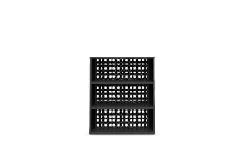 Active Duty Bookcase 3H Perforated Back - Heartwork Inc