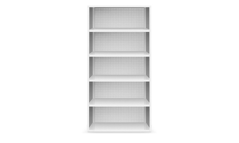 Active Duty Bookcase 5H Perforated Back - Heartwork Inc