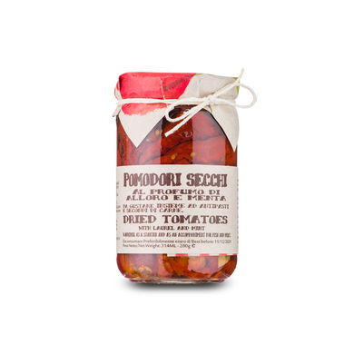 Dried tomatoes, bay leaf and aromatic herbs - 280g - Italian Market