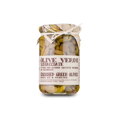 Crispy crushed green olives flavored with fennel - 280g - Italian Market