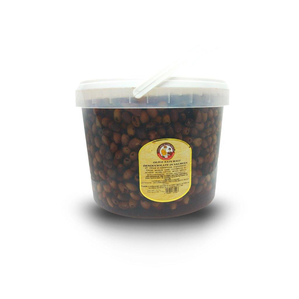 Pitted Leccino Olives Brine Bucket 5 Kg - Italian Market