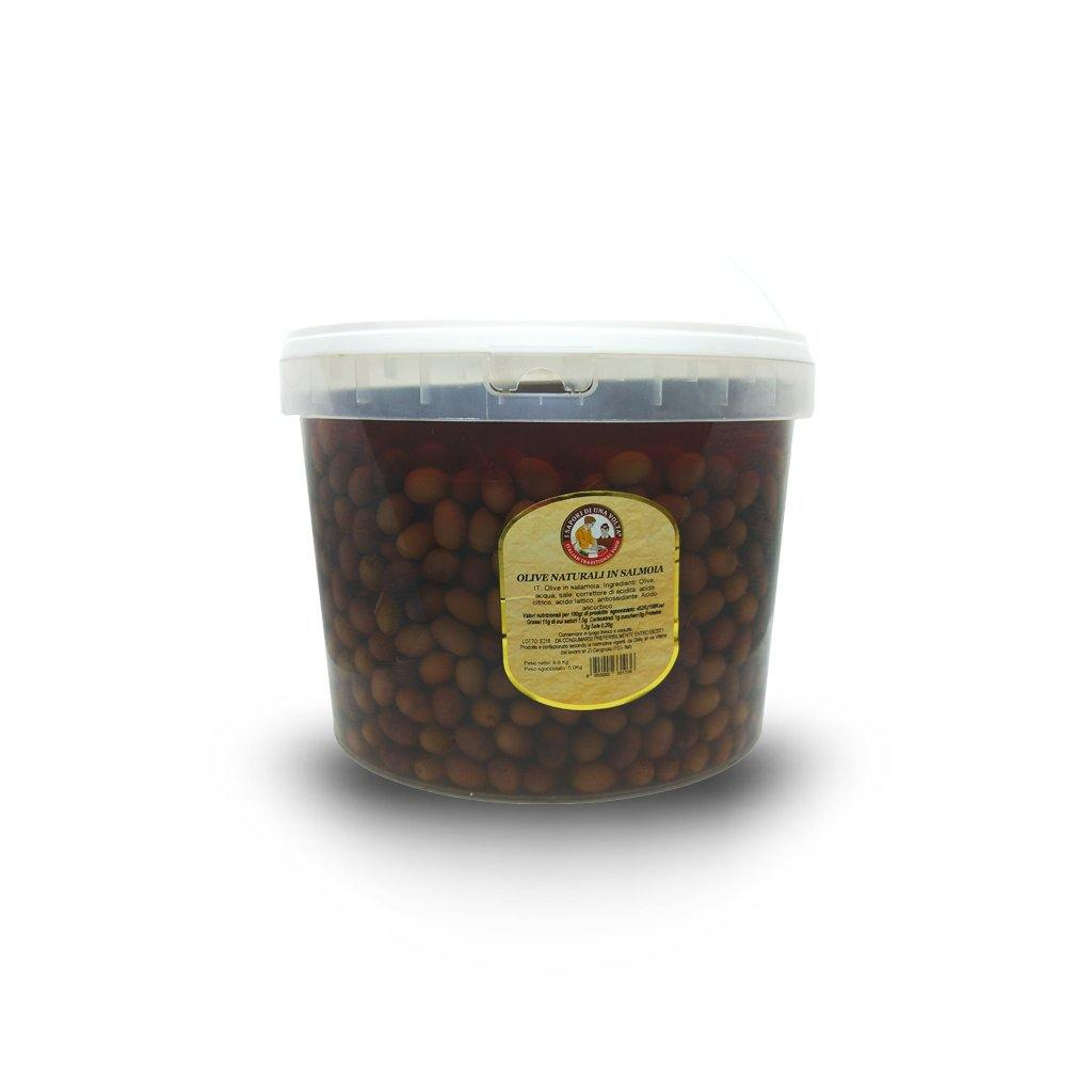 Leccino Olives in Brine Bucket 5 Kg - Italian Market