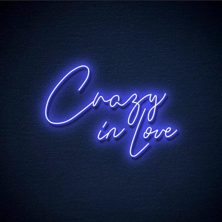 Neon Crazy in Love bleu