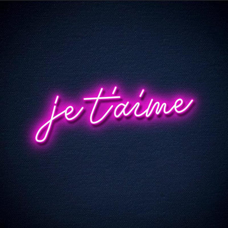 Neon Je t'aime rose