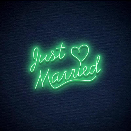 Neon vert just married