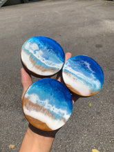 Load image into Gallery viewer, Beach Button Teak Epoxy Coaster - Set of 3 BBT002