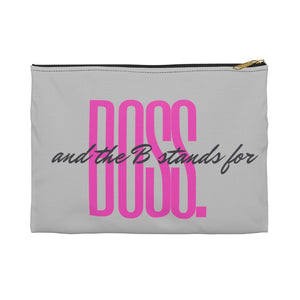 BOSS Ash/Power Pink Accessory Pouch