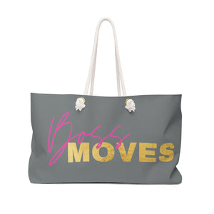 Boss Moves Pink/Gold Weekender Bag