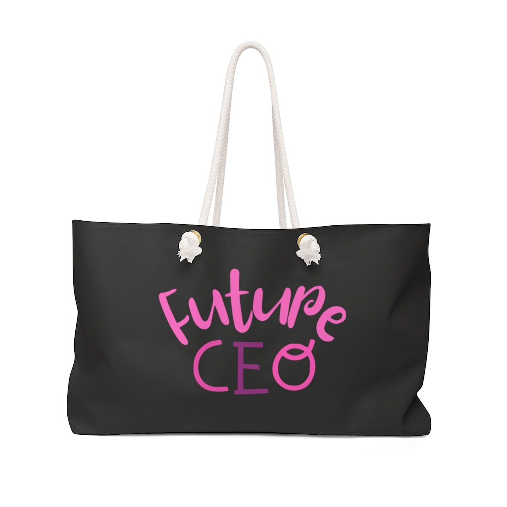 Future CEO Weekender Bag Black/Pink