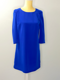 Ming Dress Blue 3/4 sleeves Pleats On Shoulders NWT 2