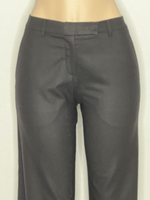 Gunex Pants Trousers Ankle Length Black Italian 4