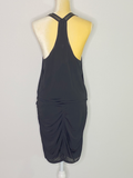 Mason Dress Black Pleats Sleeveless Above Knee Length 6