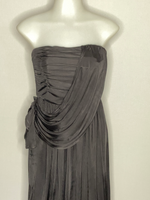 Tracy Reese Dress Black Pleats Strapless NWT S