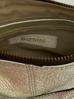 Bernini Clutch Wristlets Silver Top Zip Closure