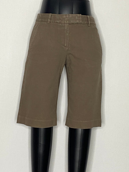 Theory Shorts Brown Above Knee Length 4 Pockets 2