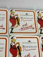 11X Cardboard Mats From Beaujolais Nouveau Collector Items