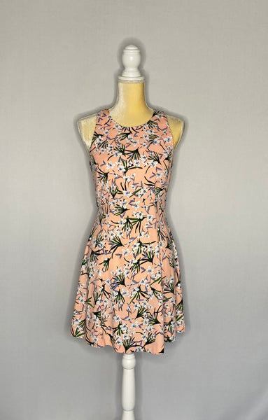 Banana Republic Dress Sleeveless Midi Floral SZ 2