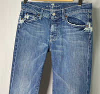 7 For All Man Kind Blue Jeans Zip Closure SZ 27