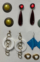 Earrings Fashion 19 Pairs Various Colors & Sizes