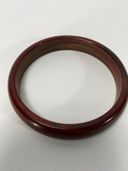 Wooden Bangle / Bracelet Brown Showing Grains of wood