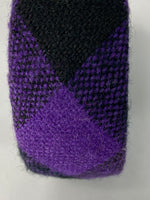 Fashion Bangle/ Bracelet Chunky Knit Purples