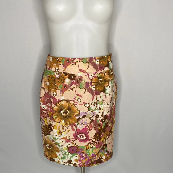 J.Crew Skirt Floral Pattern Great Colors SZ 0
