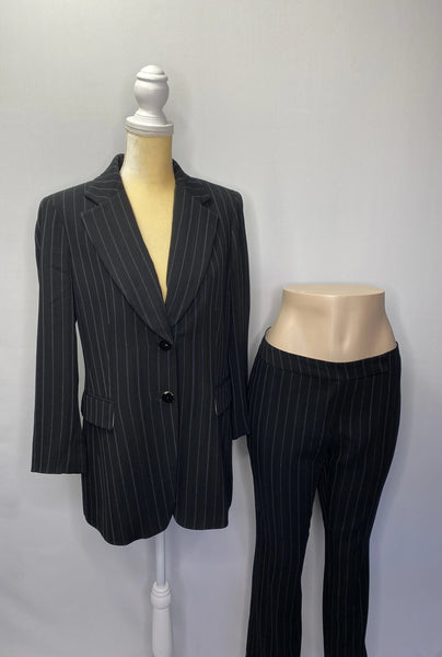 Dana Buchman Pants Suit Black & White Stripes SZ10